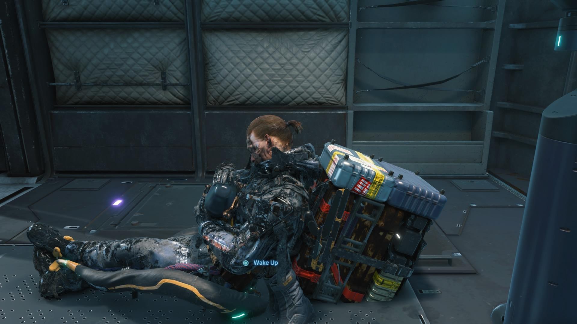 Sam tomando una siesta