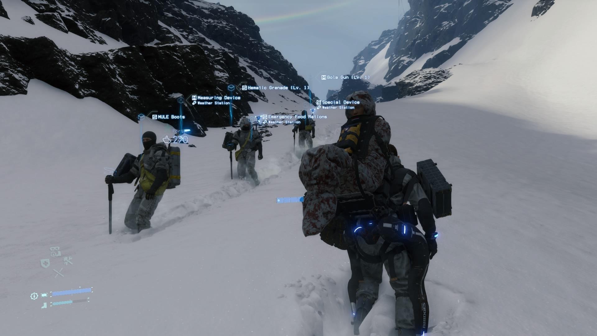 Otros repartidores en un monte nevado