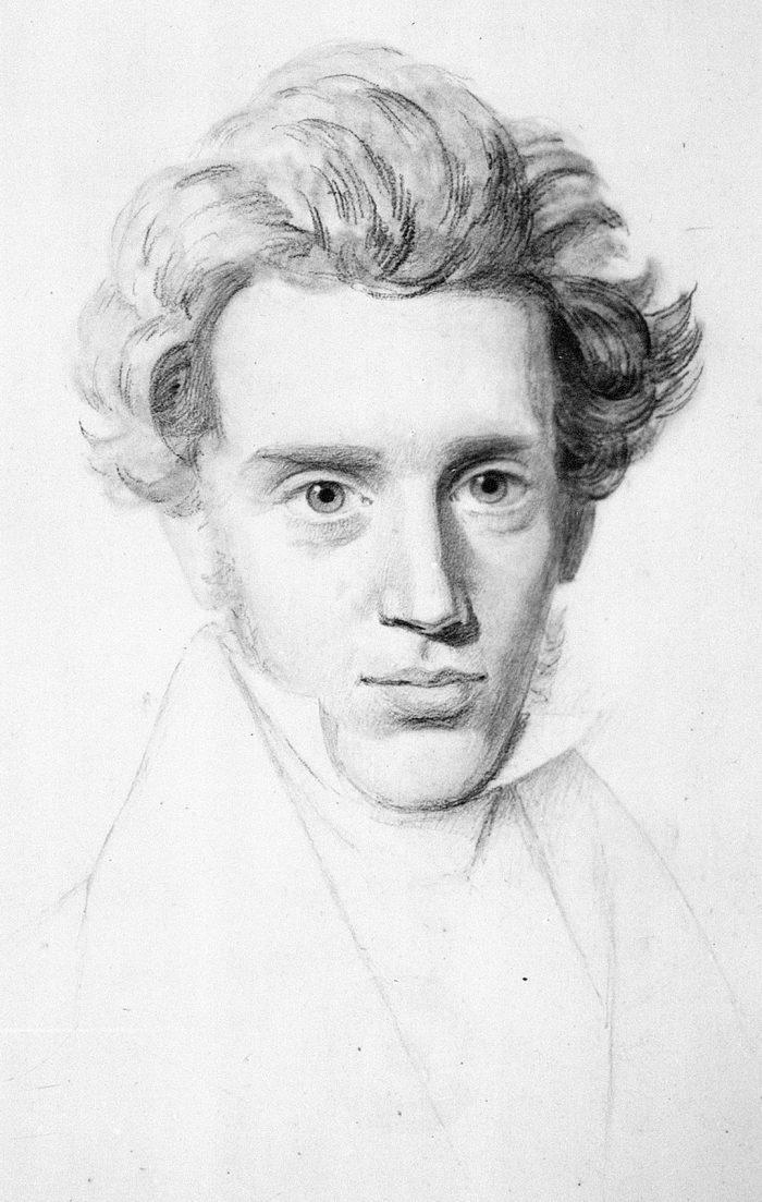 Retrato de Kierkegaard