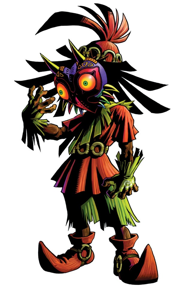 El siniestro skull kid con las mascara de majora