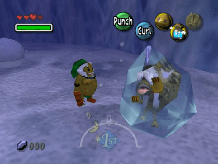 Un goron congelado en Snowhead