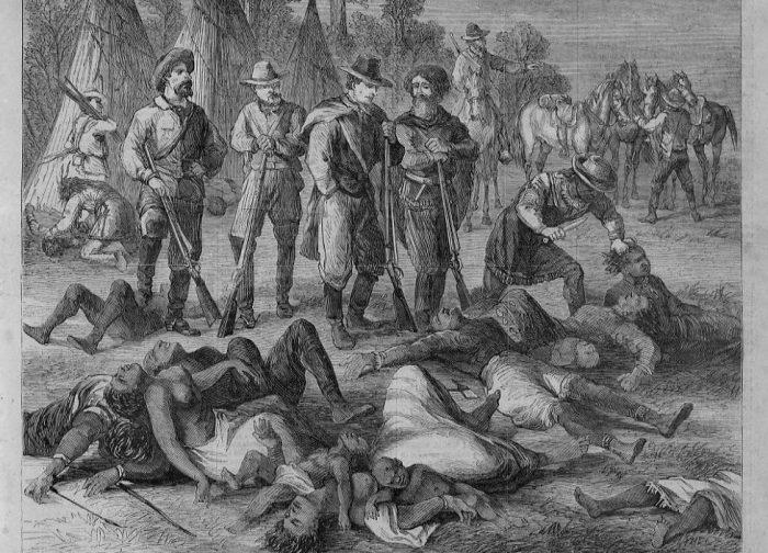 Nativos masacrados por colonizadores