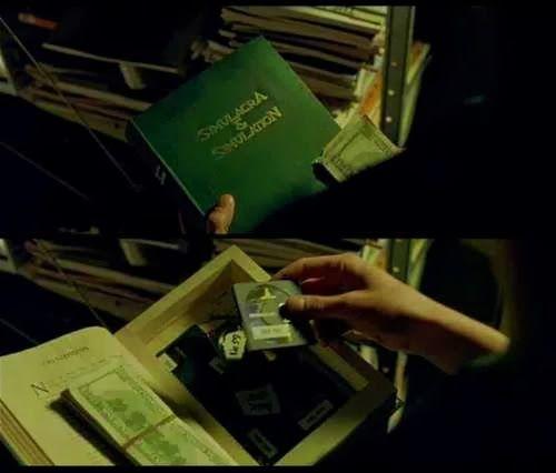 referencia a Baudrillard en la película The Matrix