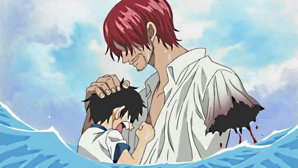 Shanks pierde su brazo para salvar a Luffy