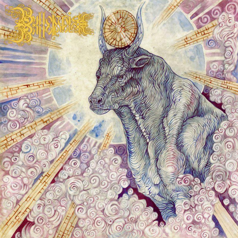 Portada del album: un toro con un disco solar emanando luz, rodeado de nubes