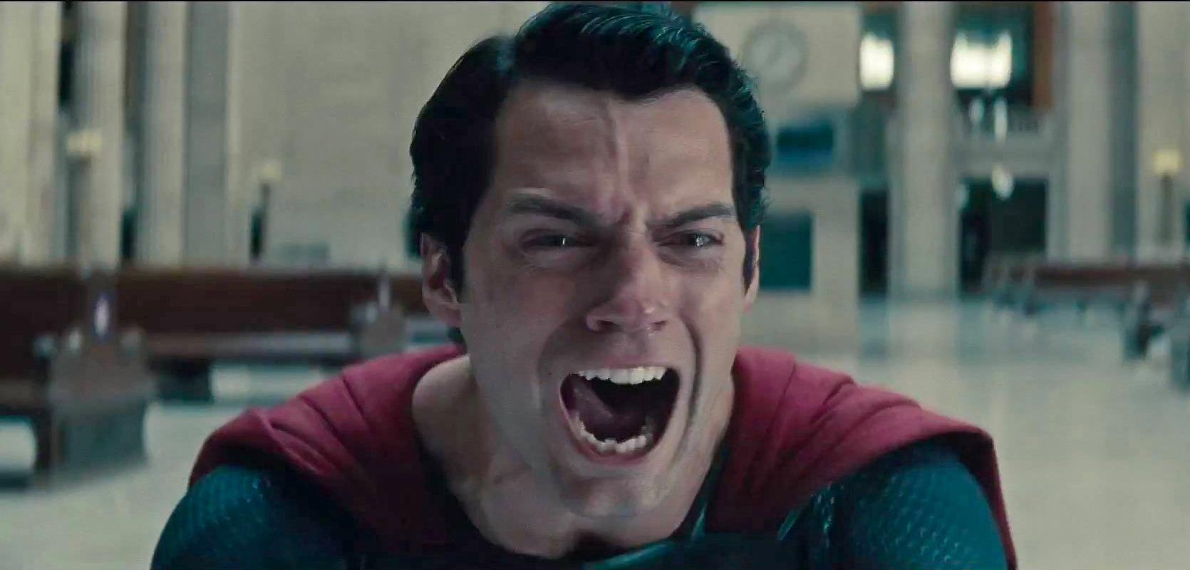 Superman después de matar al villano Zod